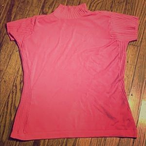Express stretch short sleeved sweater